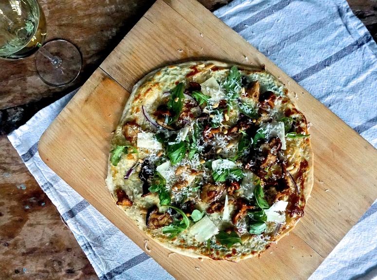 Pizza bianco sopp