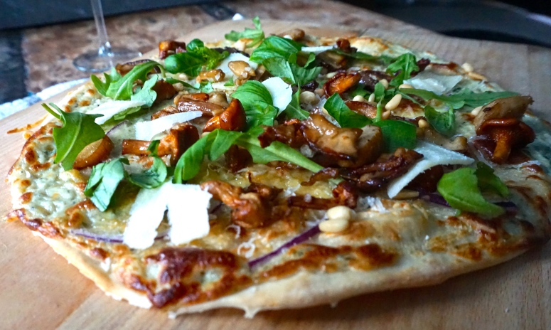 pizza bianco trøffel
